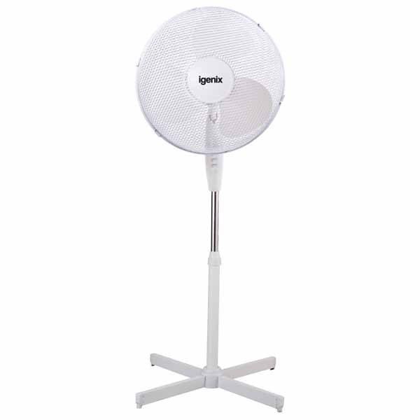 White Pedestal Fan – Igenix DF1655