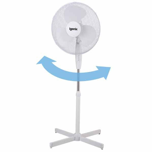 White Pedestal Fan – Igenix DF1655