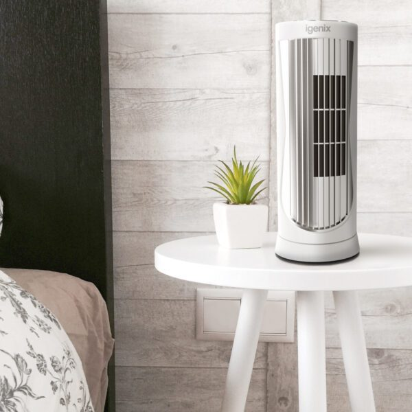 white digital mini tower fan DF0022WH
