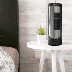 black digital mini tower fan DF0022